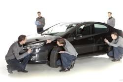 Осмотр автомобиля для дальнейшей оценки