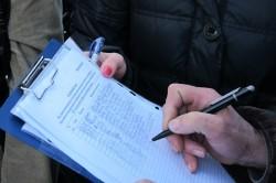 Сбор подписей у соседей по гаражному кооперативу
